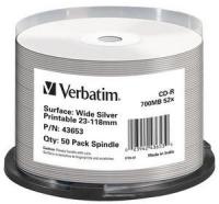 Verbatim [ 50pcs, 700MB, 52x, spindle | WIDE SILVER INKJET PRINTABLE NON I] matricas