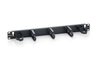 Equip 19'' cable management panel w. 5 holder 1U black
