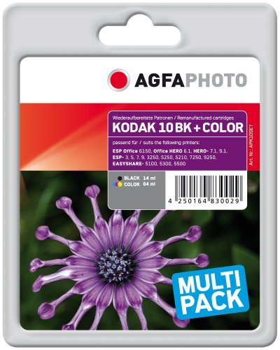 AgfaPhoto KODAK NO. 10 COMBO PACK, BLACK + COLOR, APK10SET Ink, rpl Kodak No 10 Set Black+Color, Pages 262+406 kārtridžs