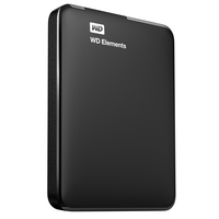 Western Digital WD Elements Portable (2 TB; 2.5 Inch; USB 3.0; black color) Ārējais cietais disks