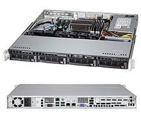 1U, LGA1150, Intel C224, 4xDDR3, 4x3.5 SATA3HS, RAID5, 2xGLAN, IPMI, 4xUSB, 350W serveris