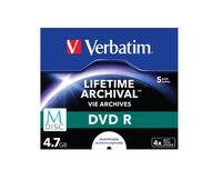 Verbatim M-DISC DVD R [ Jewel Case 5 | 4.7GB | 4x | INKJET PRINTABLE ] matricas