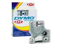 Dymo D1 12mm black/white (45013/S0720530) papīrs