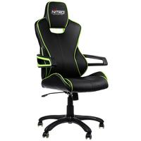 Nitro Concepts E200 Race fotel gamingowy - Black-green datorkrēsls, spēļukrēsls