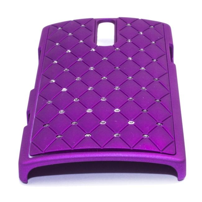 Telone Diamond Super plāns telefona apvalks ar akmeņiem Apple iPhone 5 5S Violets maciņš, apvalks mobilajam telefonam