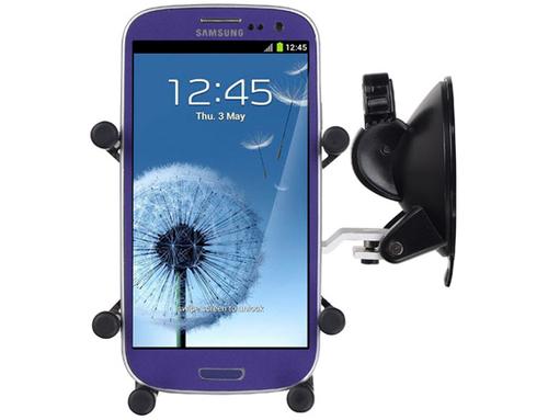 LUXA2 for car H5 iPhone  4/4S/5 alu black Selfie Stick
