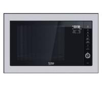 BEKO Microwave MGB25332BG, 900W, 25L, BUILT-IN, Auto-weight Defrost, Black/Inox color Mikroviļņu krāsns