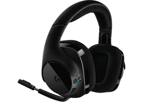 Logitech G533 Wireless Gaming DTS 7.1 Surround Sound black austiņas