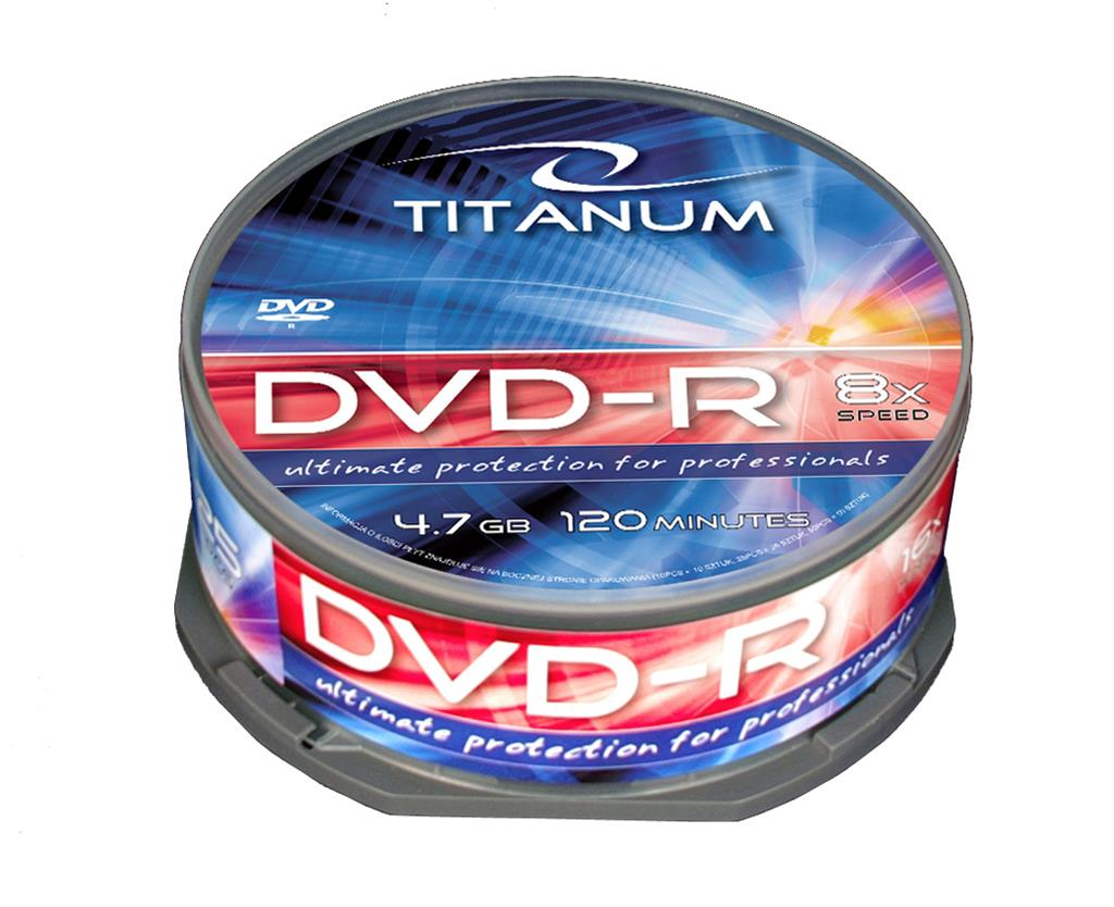 DVD-R TITANUM [ cake box 25 | 4.7GB | 8x ] matricas