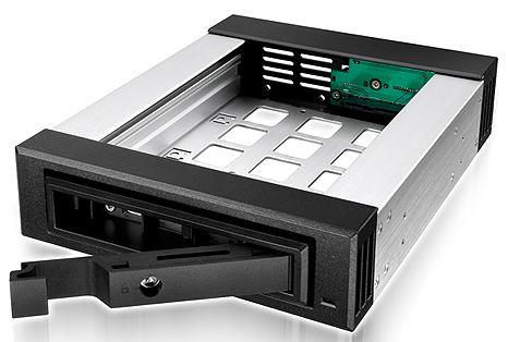 Icy Box Mobile Rack for 3.5''/2.5'' SATA/SAS HDD, Black dock stacijas HDD adapteri