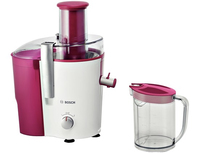 Bosch MES25C0 juice maker Centrifugal juicer Cherry,Transparent,White 700 W Sulu spiede