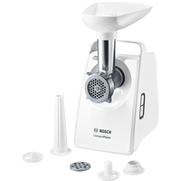 Bosch CompactPower Meat mincer MFW3520W White, 500 W, Number of speeds 5 Gaļas maļamā mašīna