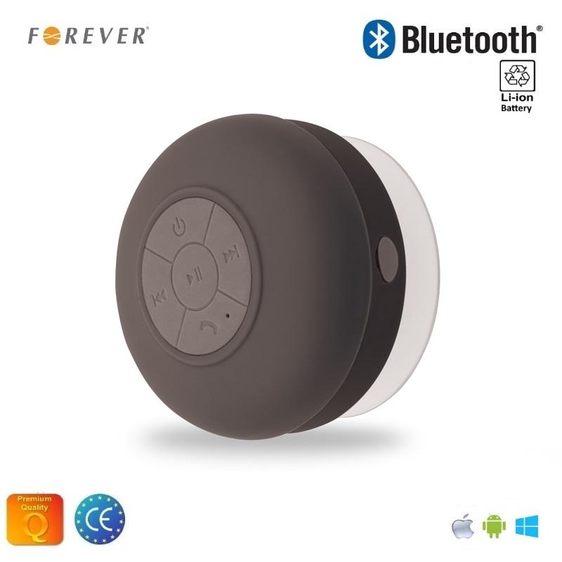Forever BS-330 Bluetooth Ūdens izturīgs Bezvadu Skaļrunis ar lipekli un Telefona Zvana Funkciju Melna pārnēsājamais skaļrunis