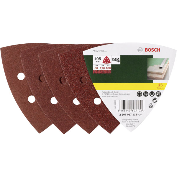 Bosch paper abrasive Delta 60 25 pieces