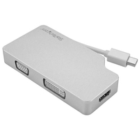StarTech.com Aluminium Reise A/V Adapter 3-in-1 Mini DisplayPort auf VGA, DVI... video karte
