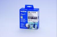 Brother DK-11218 Round Labels White, DK, 24 mm biroja tehnikas aksesuāri