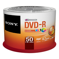 Sony DVD-R 4,7 GB | 16x [Cake 50 pcs] INKJET PRINTABLE matricas