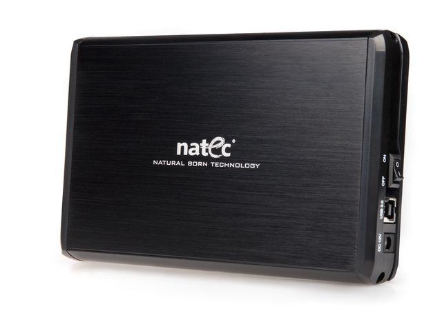 Natec RHINO External USB 3.0 enclosure for 3.5'' SATA HDDs, black aluminum cietā diska korpuss