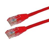 4World Patchcord RJ45, snagless, Cat. 5e UTP, 10m, Red tīkla kabelis
