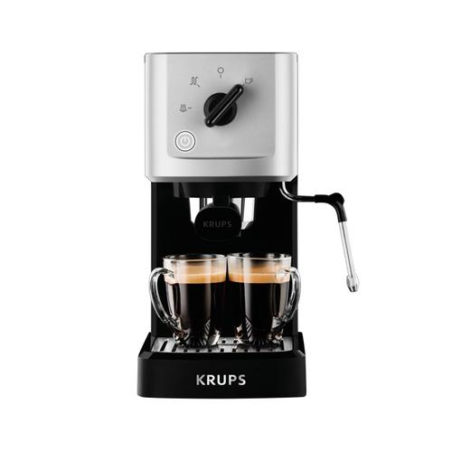 KRUPS Manuālais espresso kafijas automāts,15bar, melna/sudrabaina XP3440 Kafijas automāts