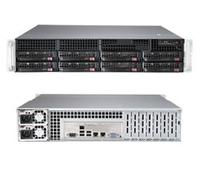 2U, 8x 3.5'' Hot-swap HDD bays w/ 2x Xeon E5-2600 support, C612 chipset, 740W PS serveris