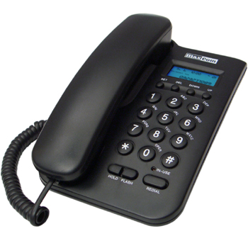 MaxCom KXT100 phone corded - black telefons