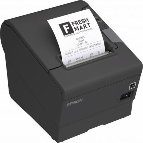 Star Micronics TSP743D II -24, Serial, Black With Cutter 6-39442310 uzlīmju printeris