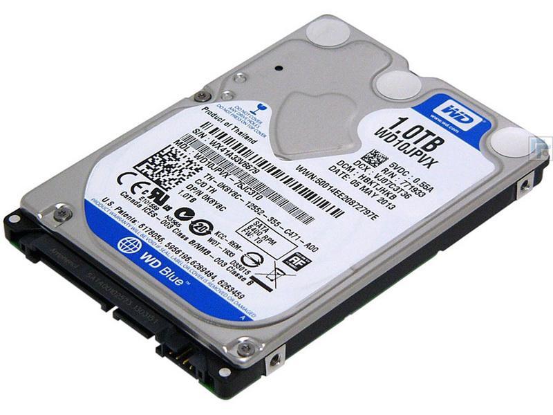 WD Blue Mobile HDD 1TB SATA 6Gb/s cietais disks