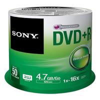 Sony DVD+R 4,7 GB | 16x [cake 50 pcs] matricas