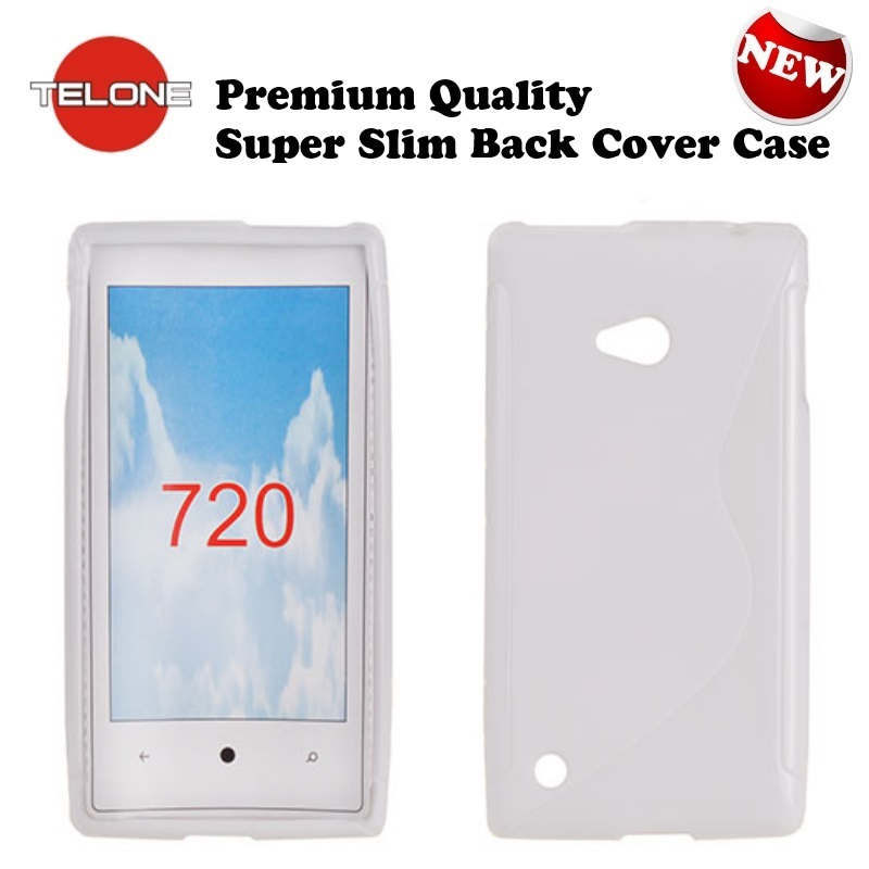 Telone Back Case S-Case gumijots telefona apvalks Nokia 720 aksesuārs mobilajiem telefoniem