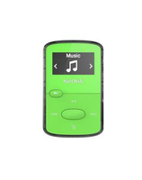 Sandisk CLip Jam MP3 Player 8GB, microSDHC, Radio FM, Green MP3 atskaņotājs