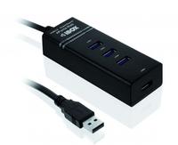 HUB I-BOX USB 3.0 BLACK 4-PORTS piederumi cietajiem diskiem HDD