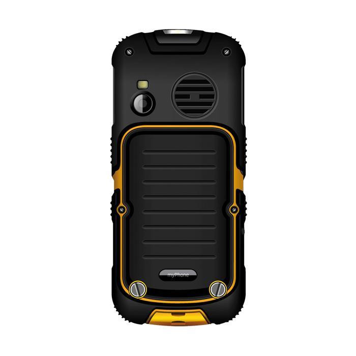 MyPhone Hammer 2+, DualSim, black and yellow Mobilais Telefons