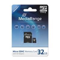 SD MicroSD Card 32GB MediaRange SD CL.10 inkl. Adapter