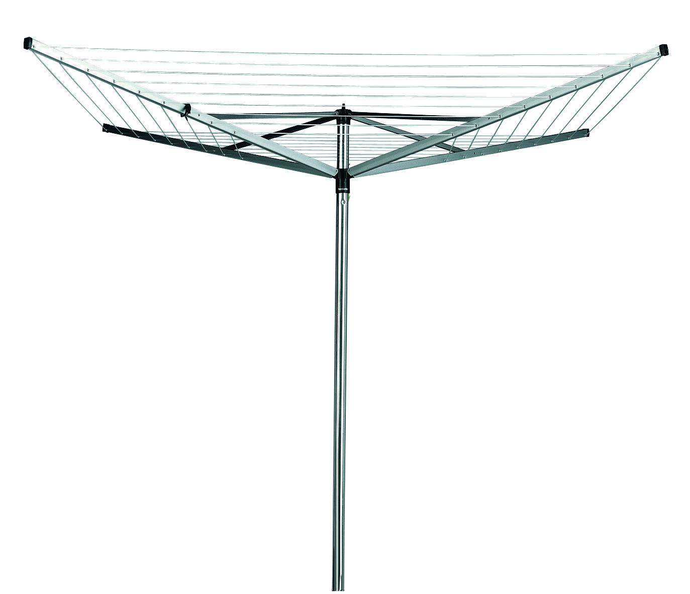 BRABANTIA rotējošs veļas ž vētājs Topspinner, 40m, 4 atzar., Metallic Grey 310744 Veļas žāvētājs