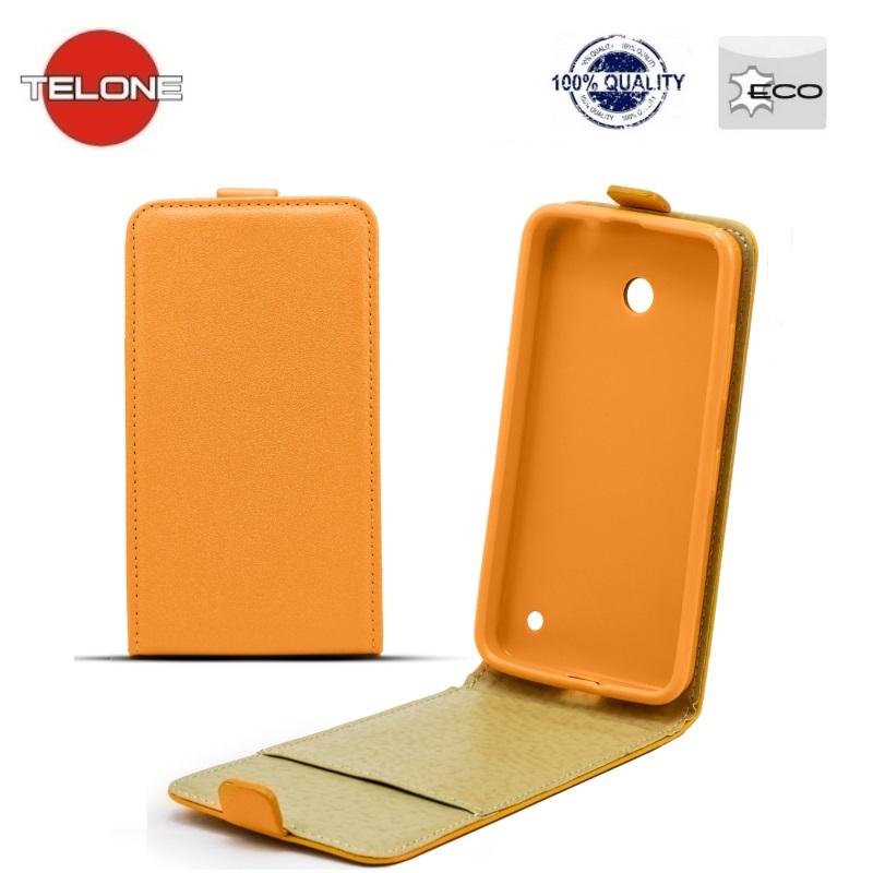 Telone Shine Pocket Slim Flip Case Samsung i8190 Galaxy S3 mini telefona maks vertik li atverams Oranžs aksesuārs mobilajiem telefoniem