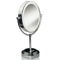 BaByliss divpusīgs ovālas formas spogulis ar apgaismojumu, 22 x17cm Spogulis