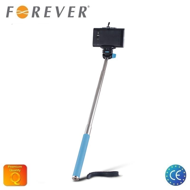 Forever MP-300 Bluetooth Selfie Stick 95cm - universāla stiprinājuma statīvs bez Pults Zils Selfie Stick