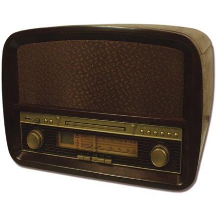 Camry CR 1112 Turntable with CD/MP3/USB/recording, Wooden housing, radio, radiopulksteņi