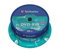 DVD-RW Verbatim [ spindle 25 | 4,7GB | 4x ] matricas