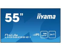 """IIYAMA 138,8cm(55"""")   LH5582SB-B1  DVI+2xHDMI+DP IPS blk Spk LED Televizors"""