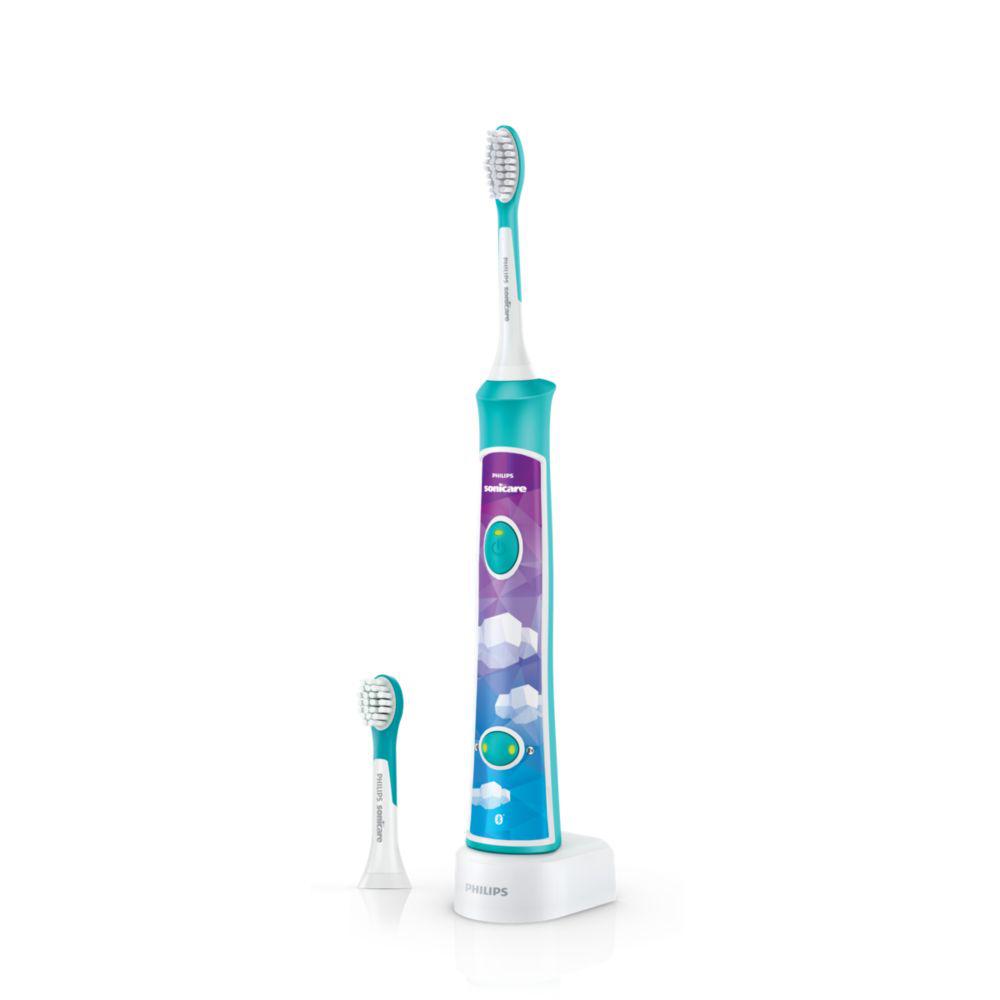 Sonicare zobu birste bērniem 3+ ar bluetooth un 8 maināmiem dizainiem HX6322/04 mutes higiēnai