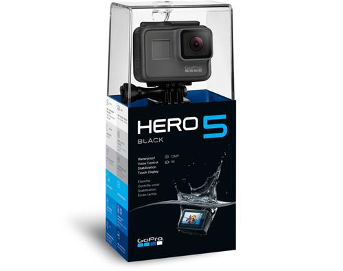GoPro Hero5 Black Wi-Fi, Touchscreen, Bluetooth, Built-in display, Built-in microphone, Waterproof sporta kamera