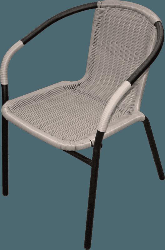 Krēsls pīts met la 55x56x74 melns Dārza mēbeles
