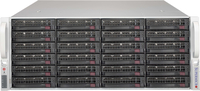 Supermicro Chassis, JBOD, Black 24x3.5 Hot-swappable HDD bays