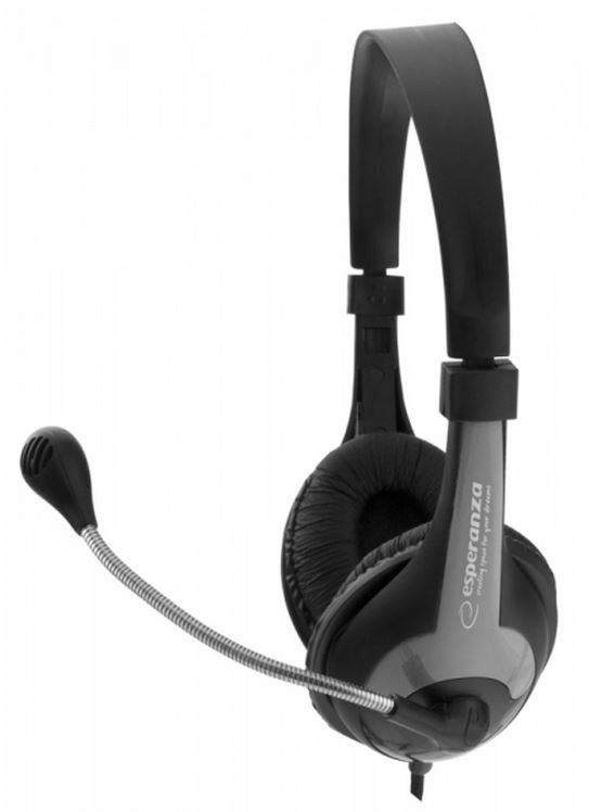 ESPERANZA Stereo Headset with microphone and volume control EH158K austiņas