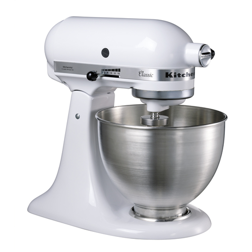 KitchenAid 5K45SS Classic white Virtuves kombains