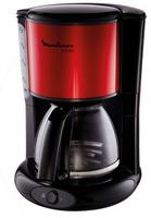 Moulinex FG360D Glas-Kaffeemaschine Subito rot metallic /black Kafijas automāts