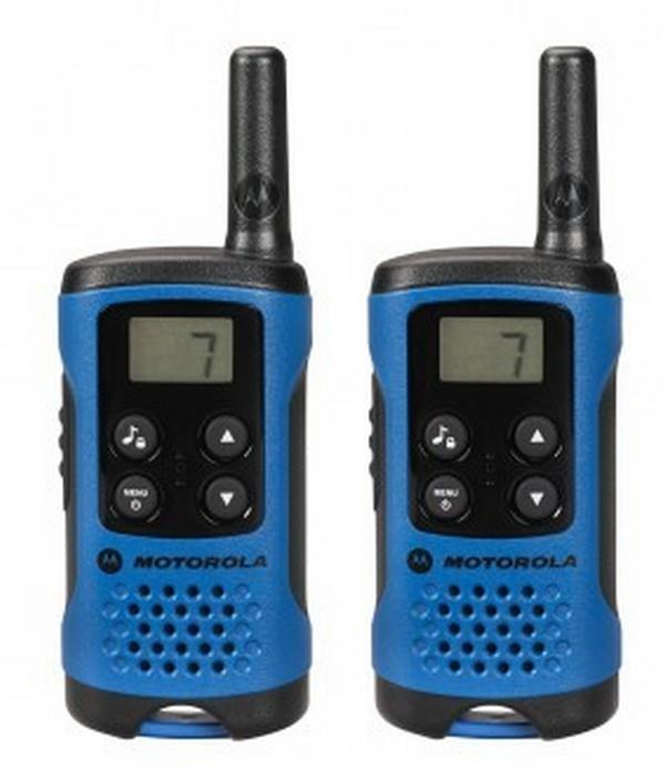Motorola T41 short-wave radio, 4km, black-blue rācijas