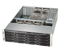 Supermicro (NR)Black 3U SC836BA Chassis W/ Redundant 1280W